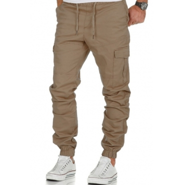 lovely Trendy Pocket Patched Khaki Pants