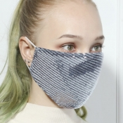 lovely Sequined SilverFace Mask