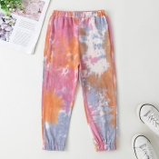 lovely Trendy Tie-dy Multicolor Girl Pants