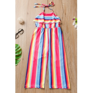 lovely Stylish Striped Multicolor Girl One-piece Jumpsuit