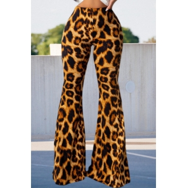 Lovely Trendy Leopard Print Pants
