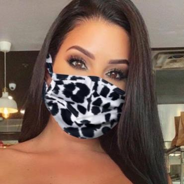 lovely Print Black Face Mask
