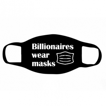 lovely Letter Print Carbon Black Face Mask