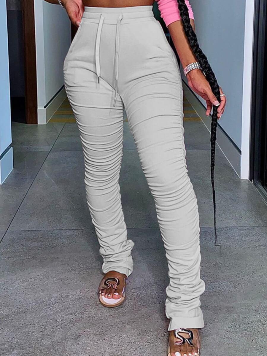Lovely Sportswear Fold Design Grey Pants фото