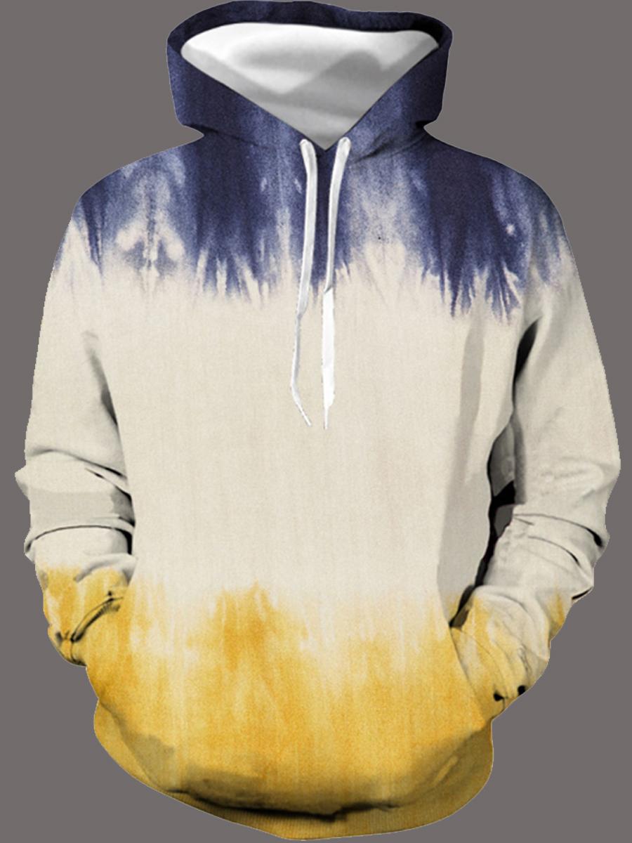Hoodies lovely Casual Hooded Collar Gradient Men Hoodie фото