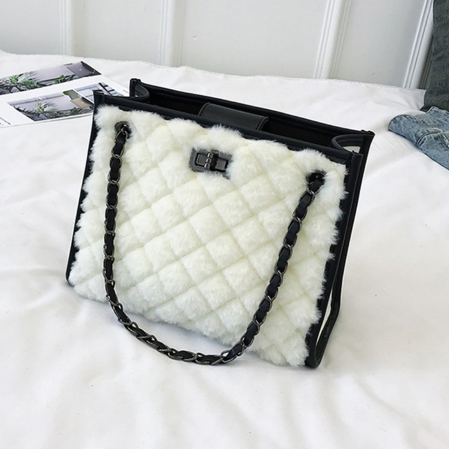 Messenger Bag&Crossbody Bag lovely Stylish Chain Strap White Crossbody Bag фото