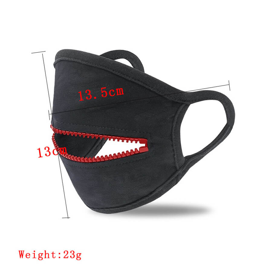lovely Zipper Design Red Face Mask