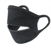 lovely Zipper Design Black Face Mask