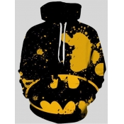 lovely Casual Hooded Collar College Graffiti Print Hoodies