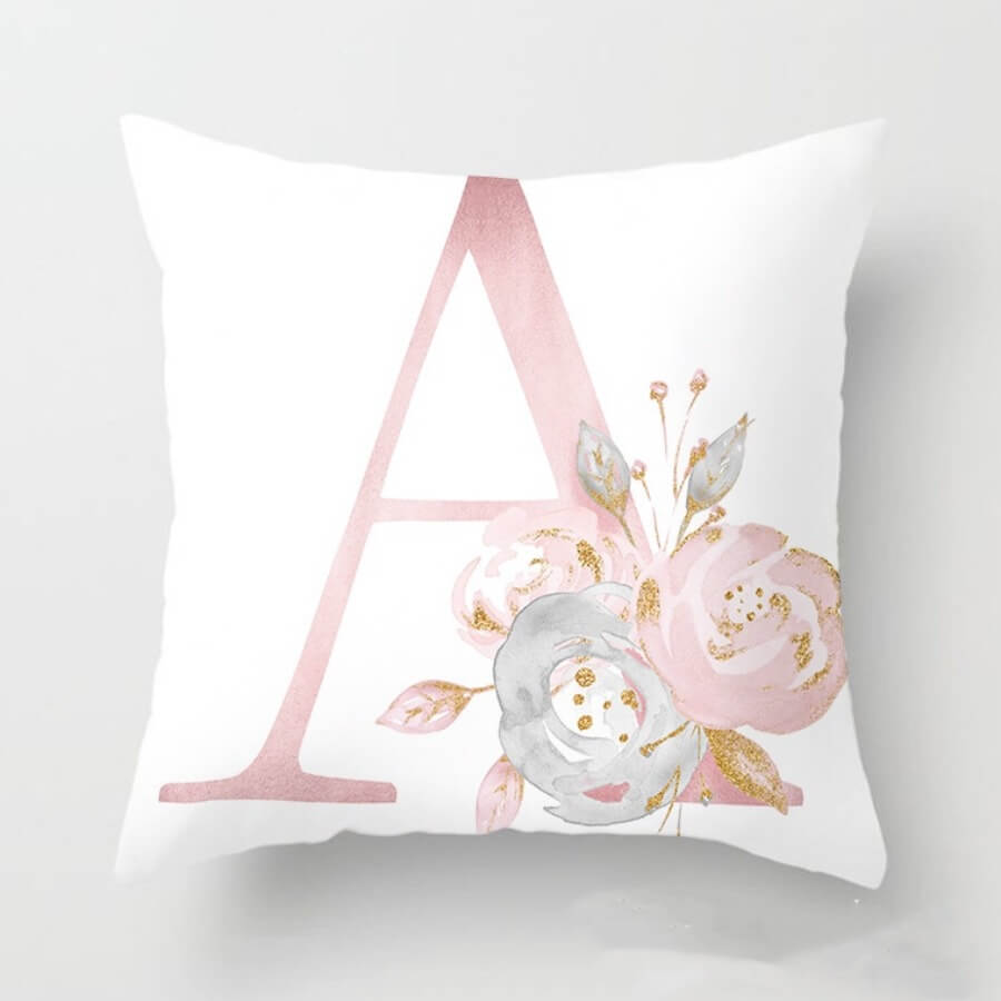 Lovely Cosy Print White Decorative Pillow Case