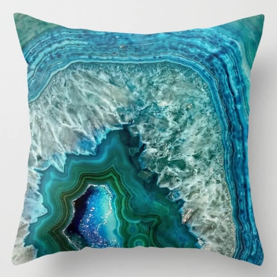 lovely Cosy Tie-dye Blue Decorative Pillow Case