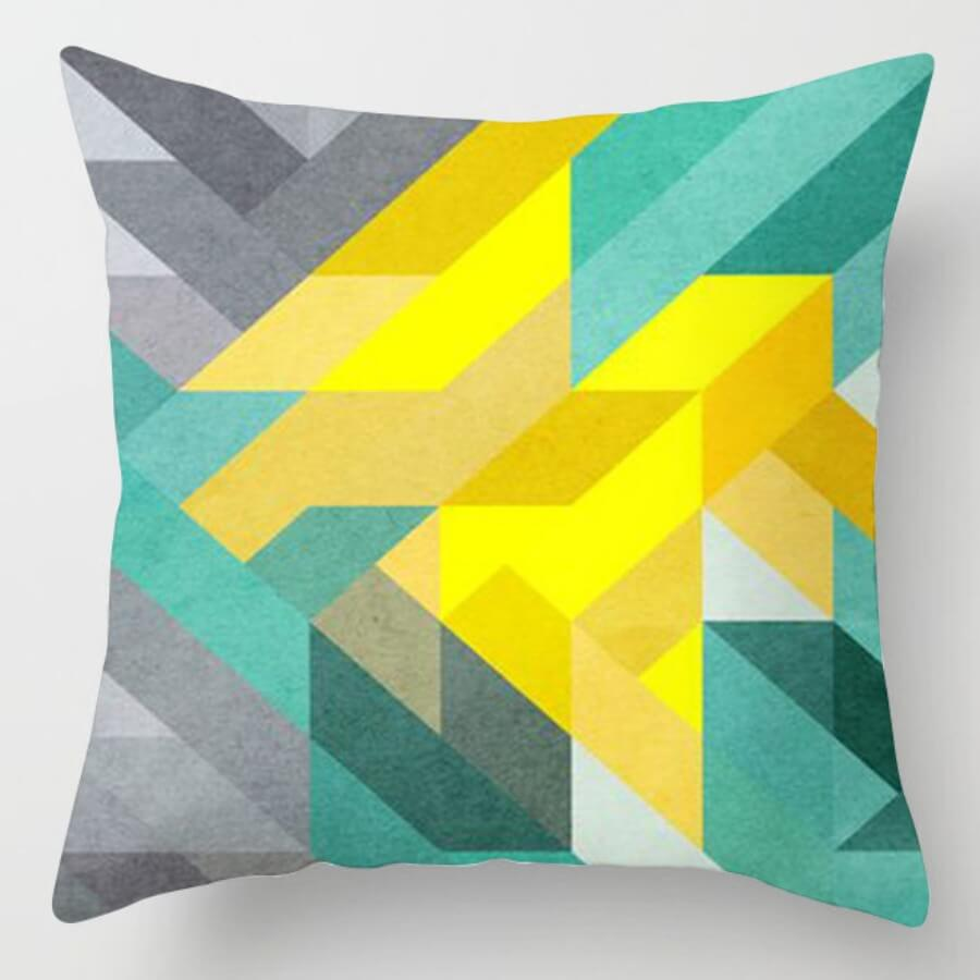 lovely Trendy Striped Yellow Decorative Pillow Case