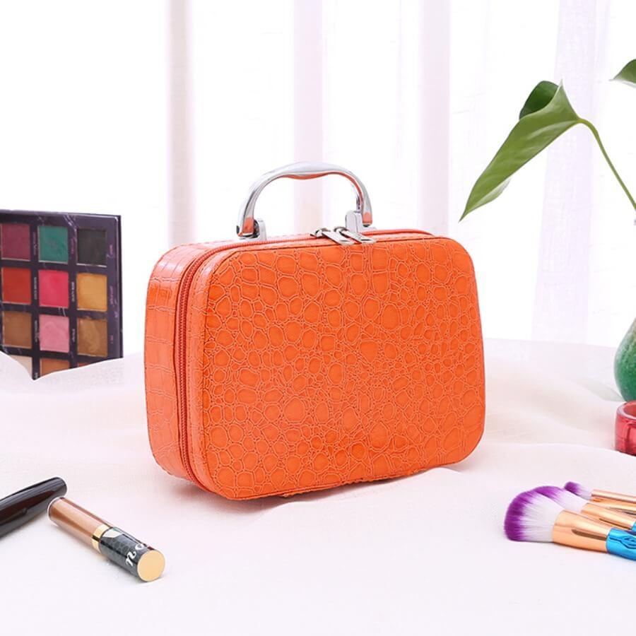 Lovely Trendy Zipper Design Croci Makeup Bag