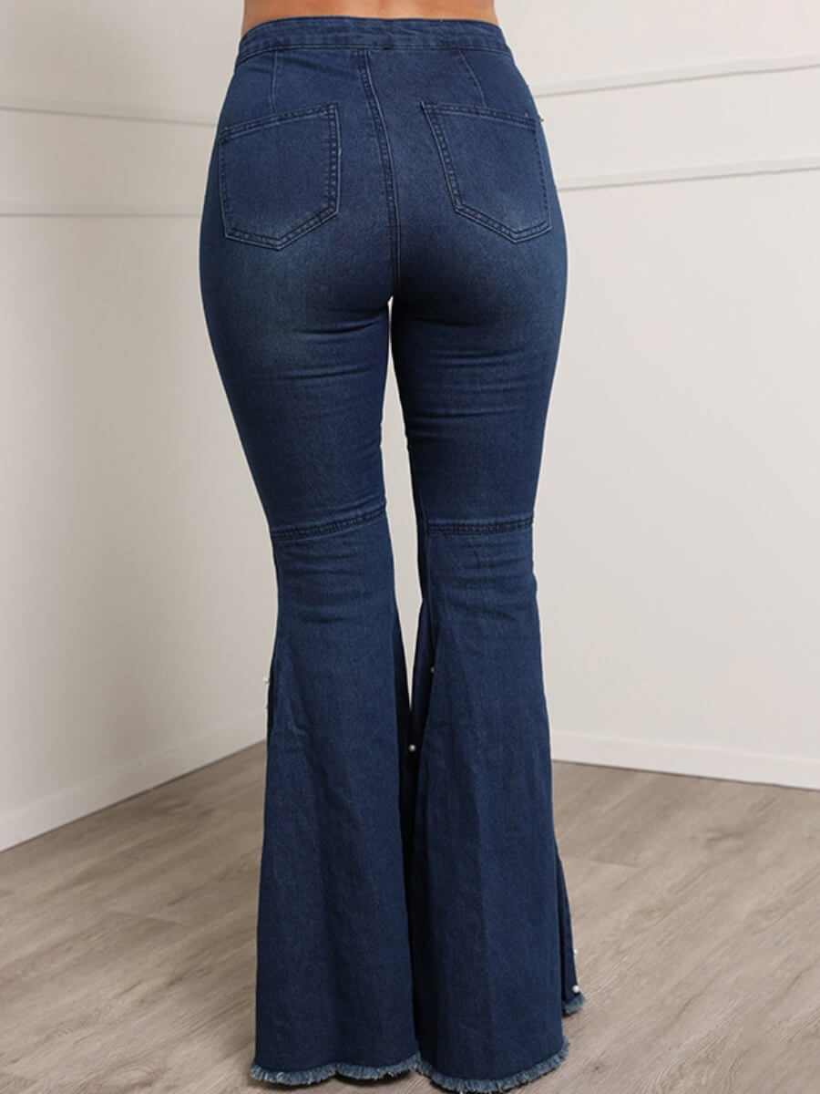 Lovely Stylish Nail Bead Design Deep Blue Jeans