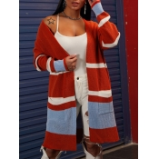 lovely Leisure Striped Loose Jacinth Long Cardigan