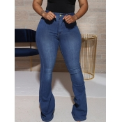 lovely Casual Basic Blue Jeans