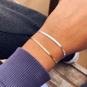 lovely Casual Basic Gold Bracelet