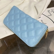 lovely Casual Zipper Design Blue Coin Purses