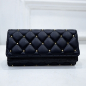 lovely Casual Rivet Decorative Black Coin Purses