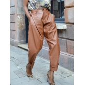 lovely Trendy Basic Loose Coffee Pants