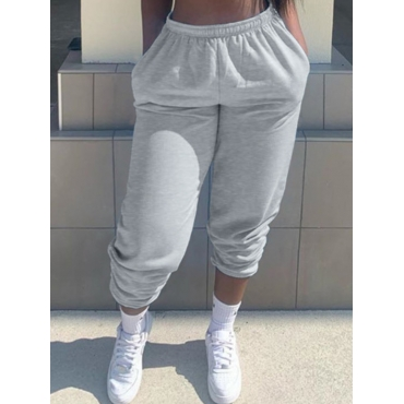 Lovely Casual Loose Grey Pants