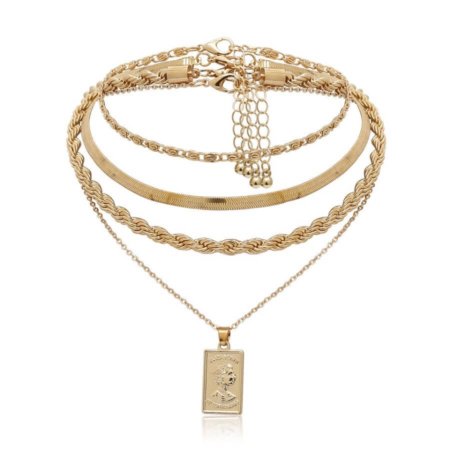 Lovely Trendy Gold Necklace