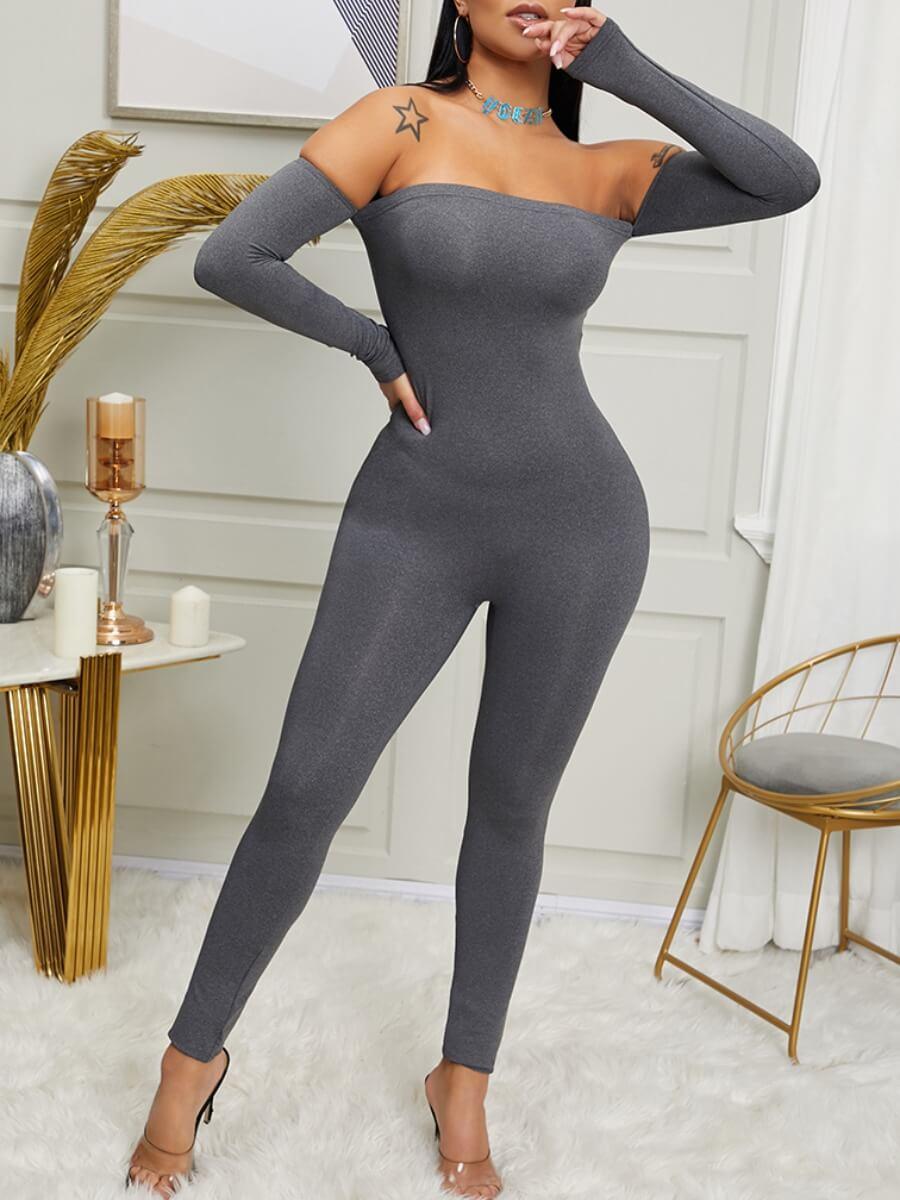 Lovely Sportswear Dew Shoulder Skinny Light Grey O
