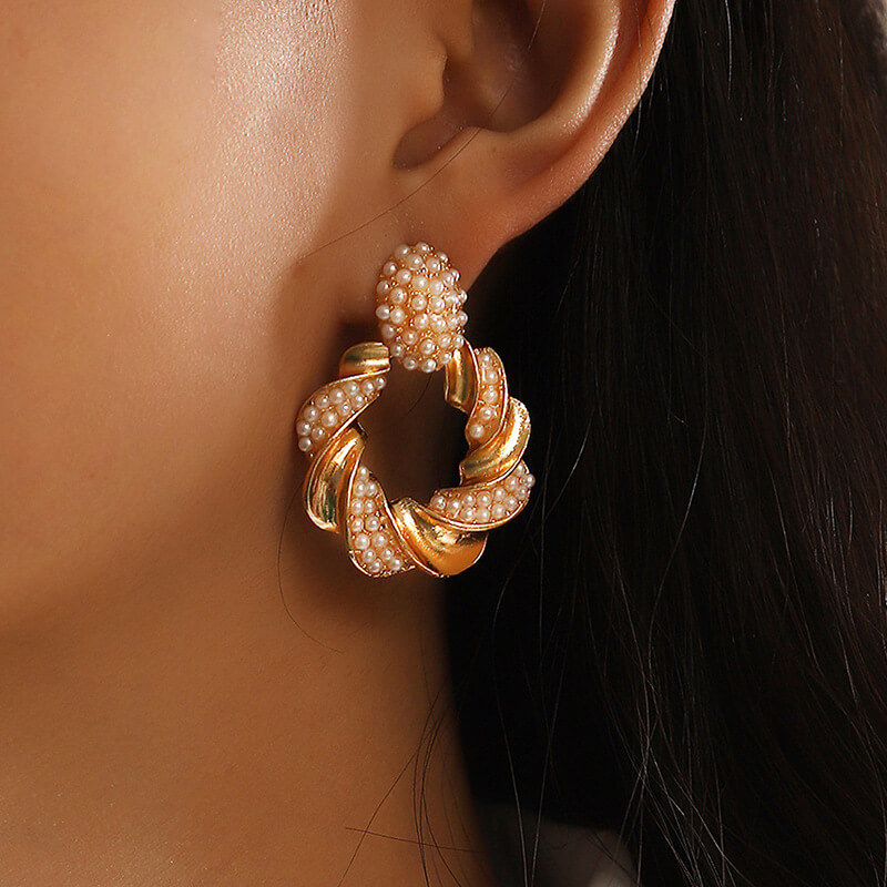 Lovely Casual Hollow-out Gold Earring