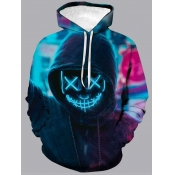 Lovely Street Hooded Collar Long Sleeve Tie-dye Pr