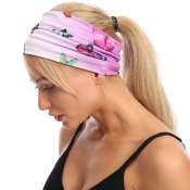 lovely Casual Butterfly Print Pink Headband