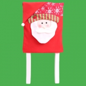 lovely Christmas Print Red Chair Cover