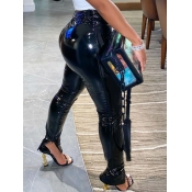 Lovely Stylish Heap Skinny Black Pants