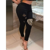 lovely Street Patchwork Black Jeans