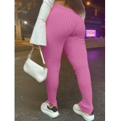 lovely Casual Basic Skinny Pink Plus Size Pants