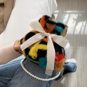 Lovely Trendy Tie-dye Multicolor Crossbody Bag