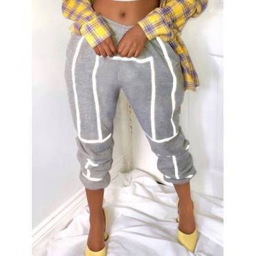 Lovely Leisure Patchwork Grey Pants