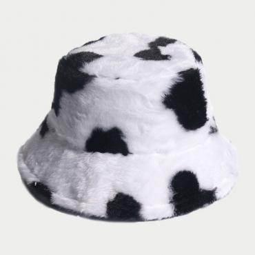 Lovely Trendy Print White Hat