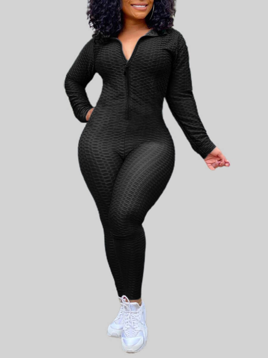Lovely Sportswear Turndown Collar Zipper Design Bl