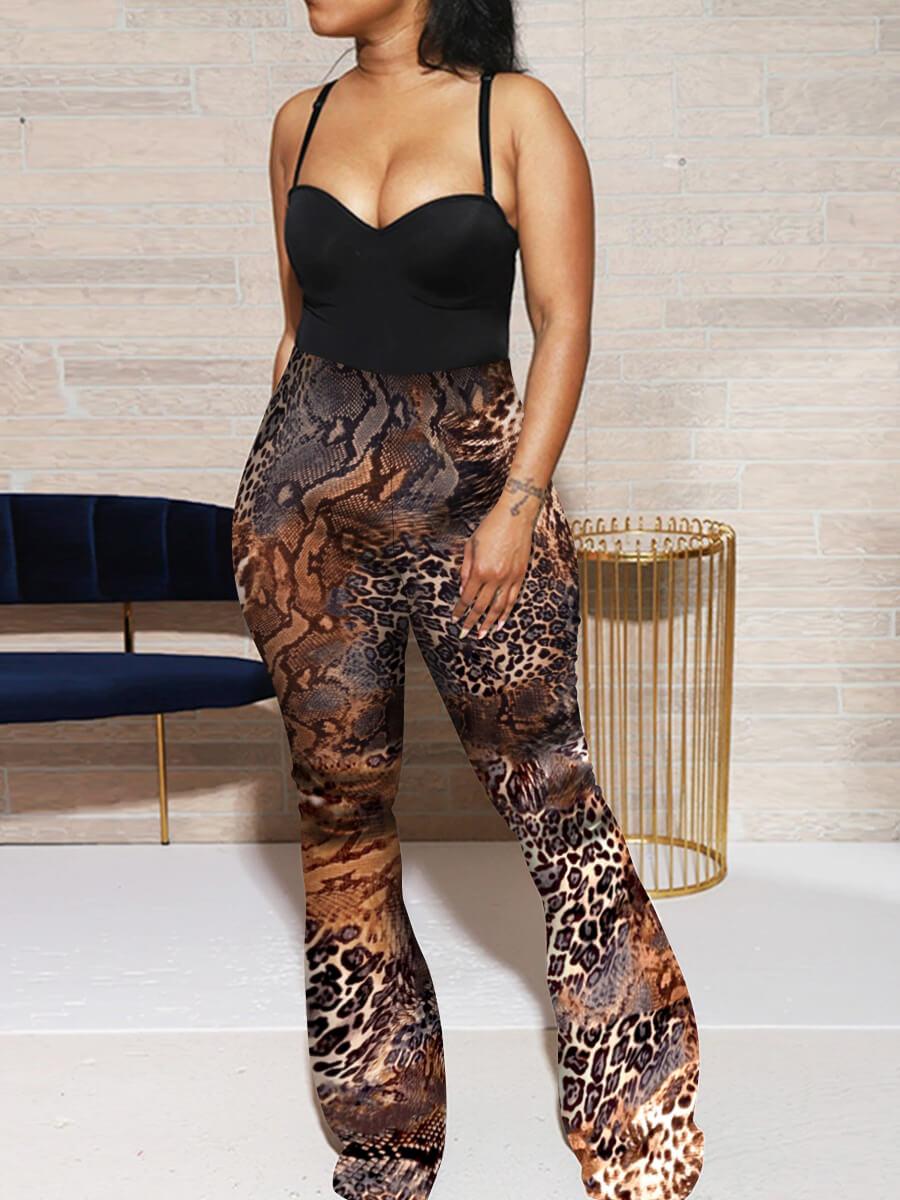 Lovely Casual Elastic Waist Leopard Print Pants