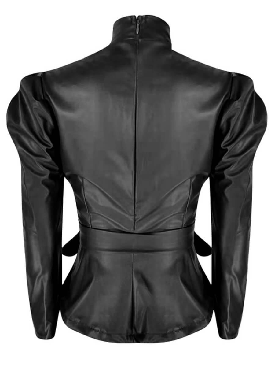 Lovely Formal Turtleneck Knot Design Black Plus Si