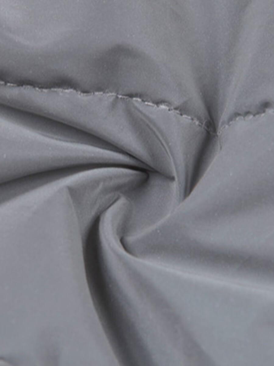 Lovely Casual Zipper Pocket Design Silver Parka(Bright Under Light)