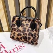 Lovely Trendy Leopard Print Crossbody Bag