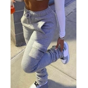 Lovely Casual Side Pocket Grey Pants