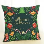 Lovely Trendy Christmas Day Letter Print Green Dec