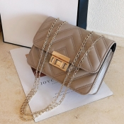 Lovely Casual Metal Accessories Decoration Khaki C