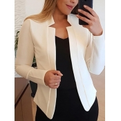 Lovely Formal Basic Skinny White Blazer