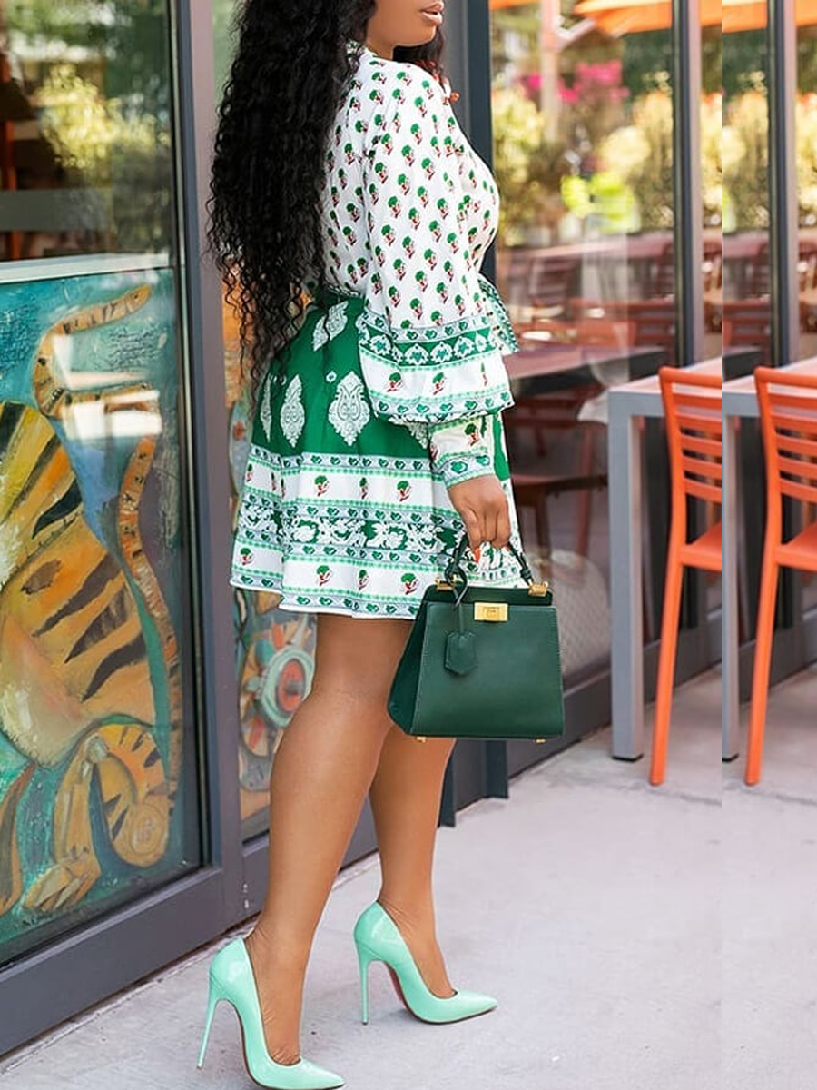 Lovely Casual Printed Multicolor Knee Length Dress