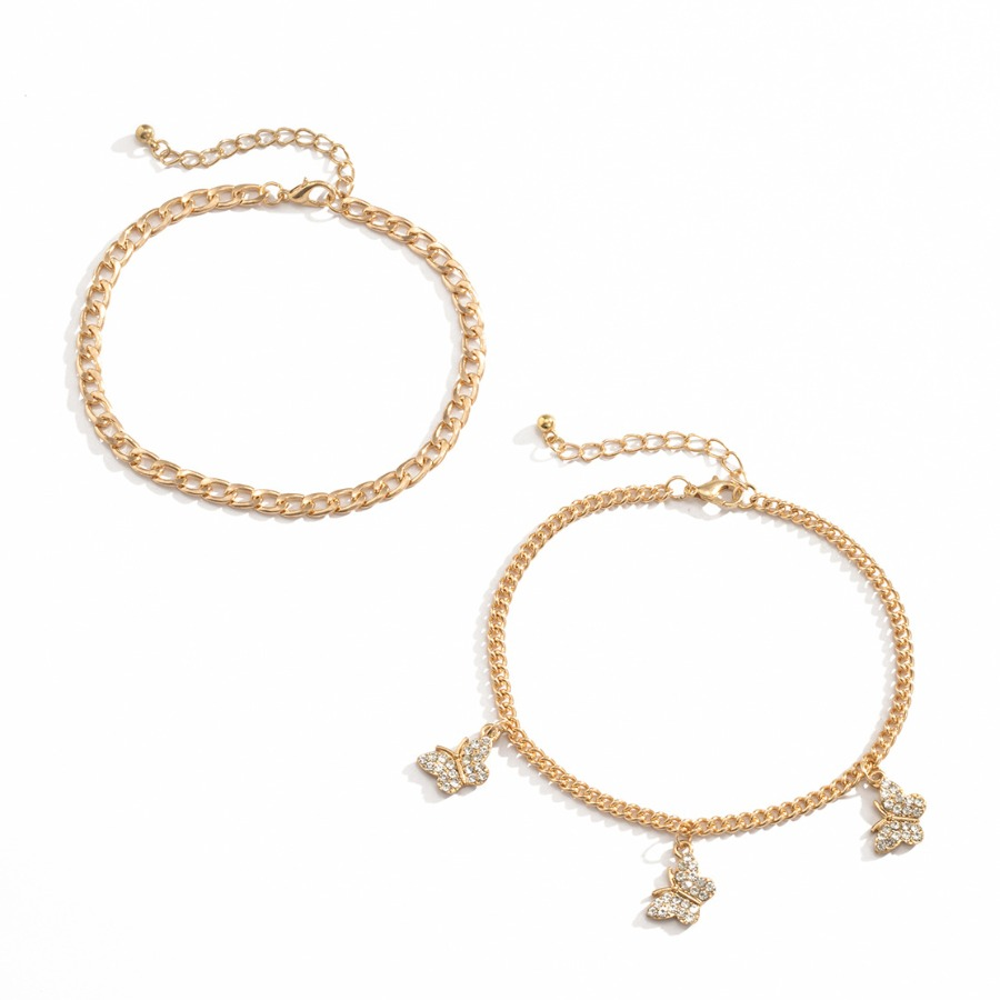 Lovely Casual Butterfly Gold Body Chain