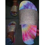 Lovely Sweet Sequined Tie-dye Pink Slippers