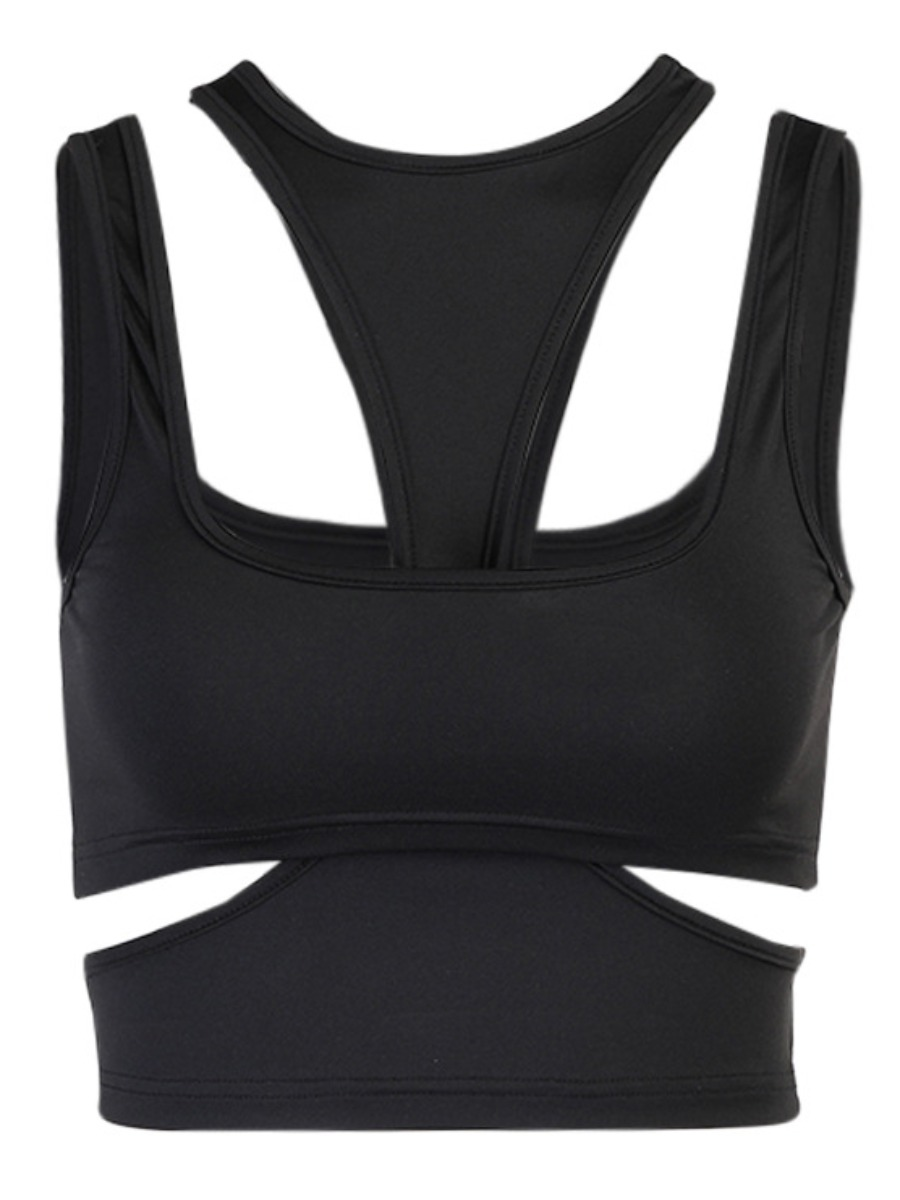 Lovely Sexy O Neck Hollow-out Black Camisole